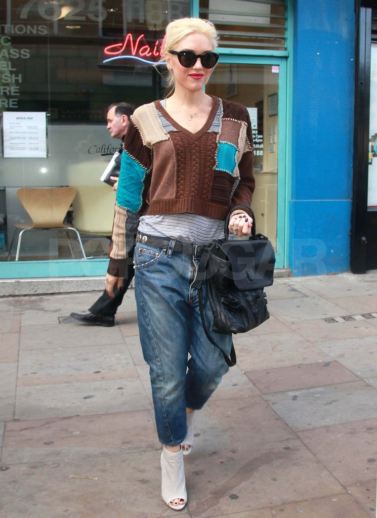 Gwen Stefani at a nail salon in London.