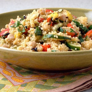 Fast & Easy Dinner: Grilled Vegetables and Chickpeas with Couscous