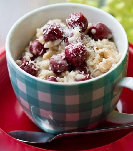 Vanilla Cherry Coconut Breakfast Risotto