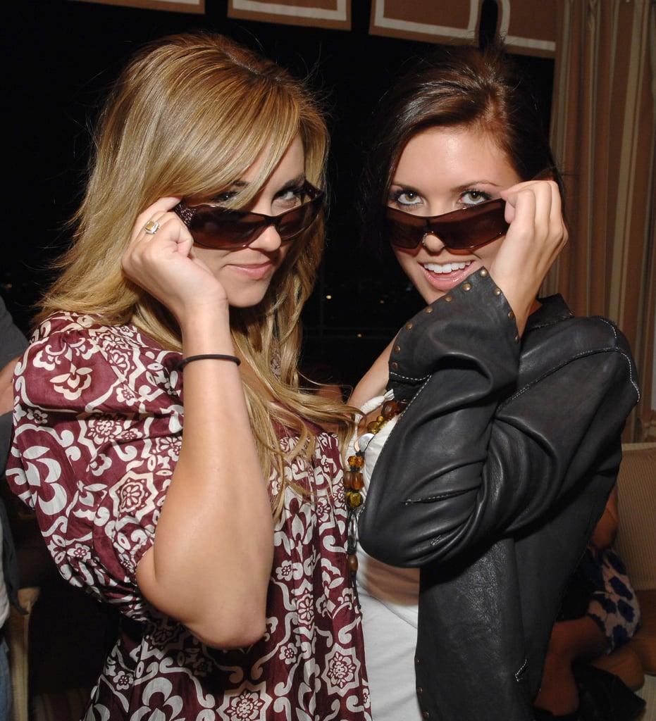 Lauren Conrad and Audrina Patridge got goofy with glasses in LA in March 2007.