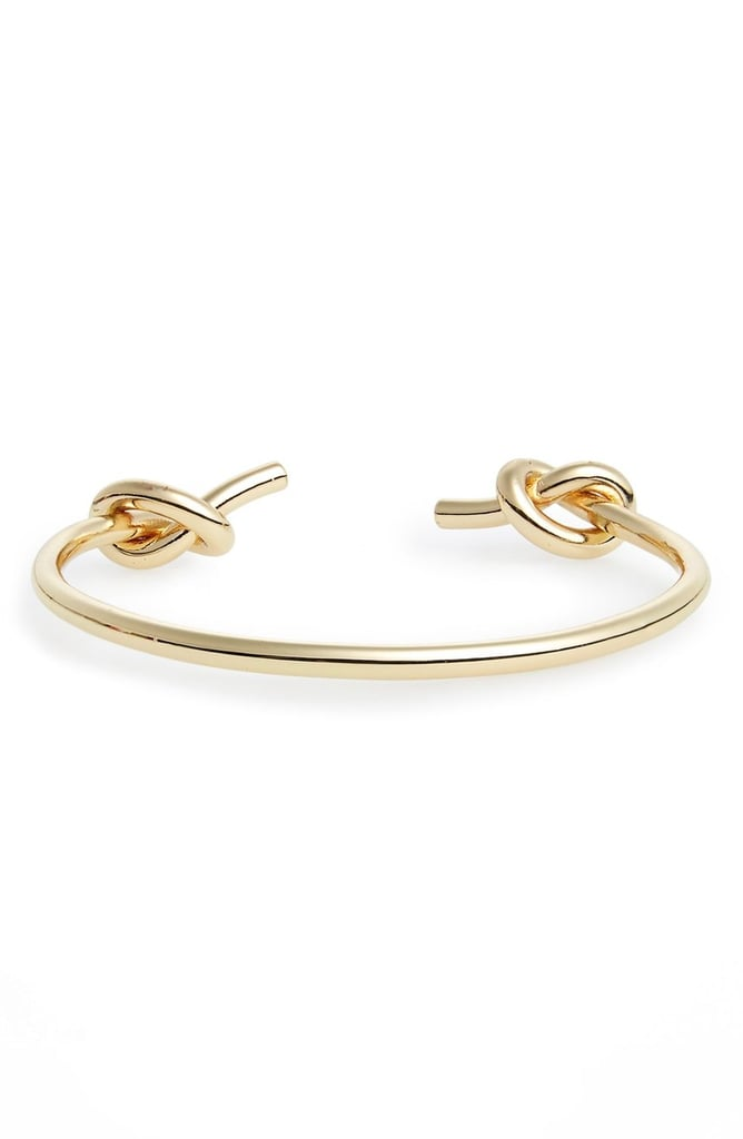 We love that this delicate cuff is right on trend and looks a lot more pricey than it actually is. Sole Society Double Knot Cuff Bracelet ($25)