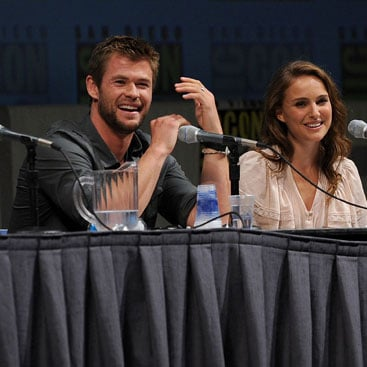 Natalie Portman, Chris Hemsworth, and Kat Dennings Interview For Thor at Comic-Con 2010