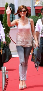 Actress Kate Walsh at the Annual Monte Carlo Television Festival in Nude Sequined Stella McCartney Tank