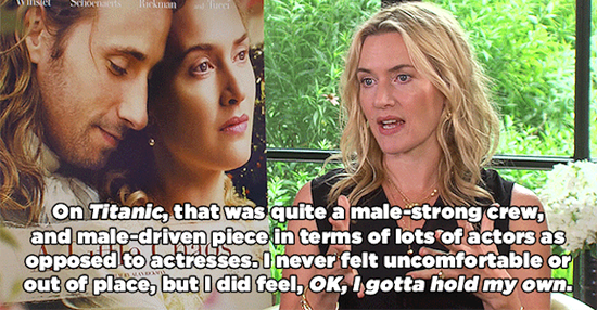 Kate Winslet Talks Having To Hold Her Own On Male-Dominated Film Sets