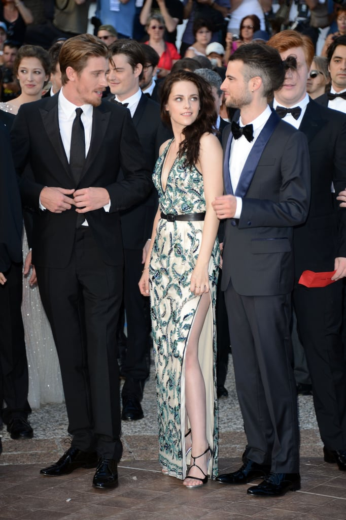Kristen Stewart wore a dress with a high slit to the On the Road premiere in Cannes.