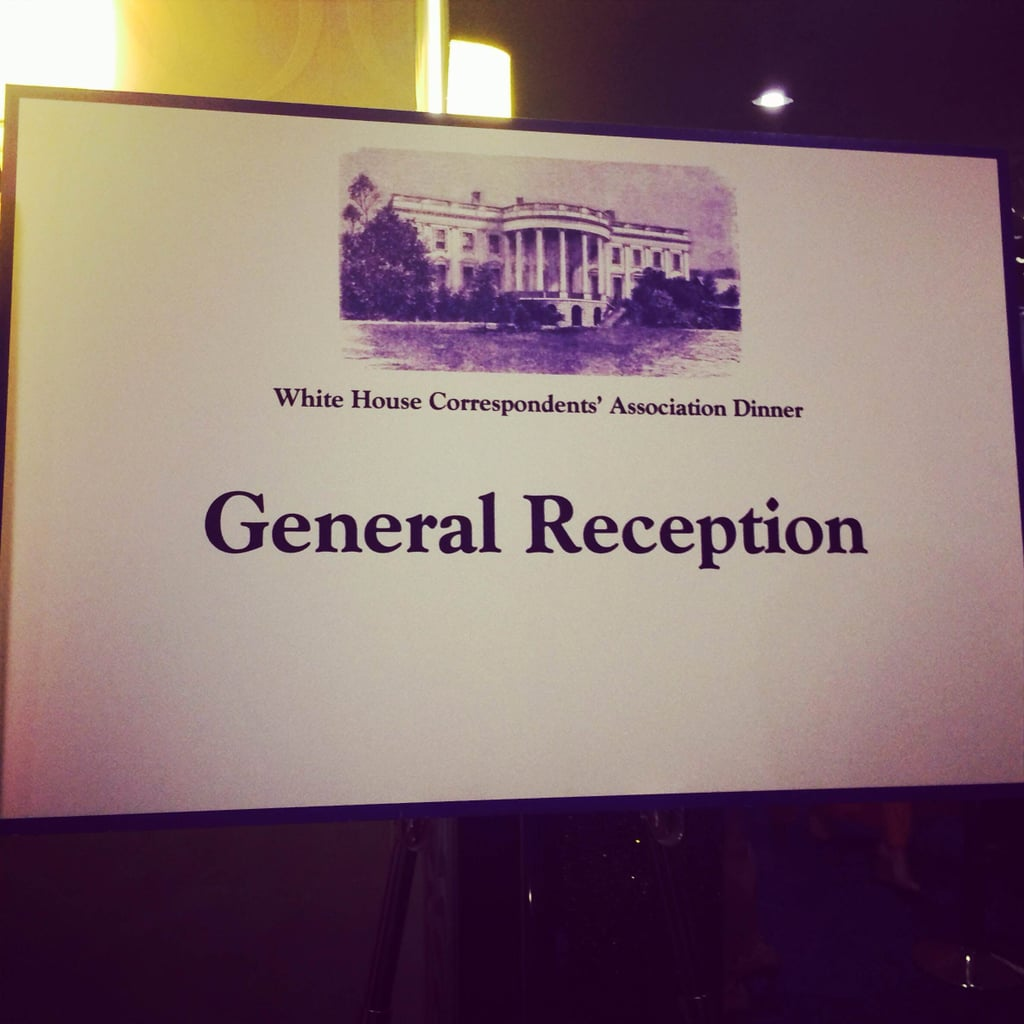 Signs were posted pointing guests to the dinner.