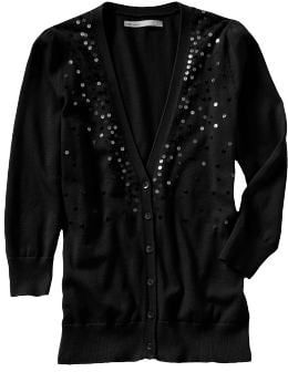 Sequin Cardigan $29.50, Old Navy