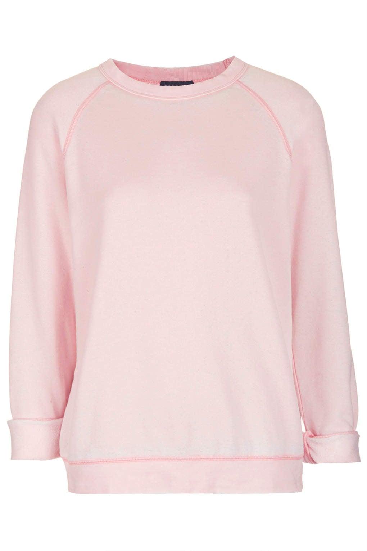 Topshop Long Sleeve Burnout Sweatshirt ($45)
