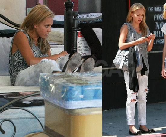 Photos of Blonde Jessica Alba in LA