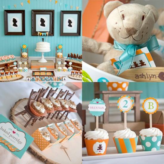 Goldilocks and the Three Bears-Themed Birthday Party
