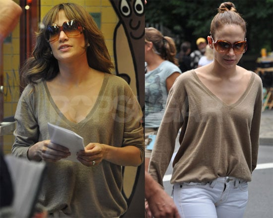Photos of Jennifer Lopez on the Set of The Back-Up Plan in NYC the Day After Her 40th Birthday