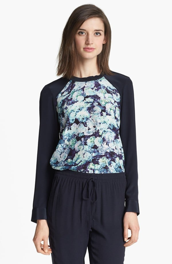 This Rebecca Taylor Silk Baseball Tee ($180, originally $275) is perfect for topping your pencil skirts at the office or adding to black pants come Fall.