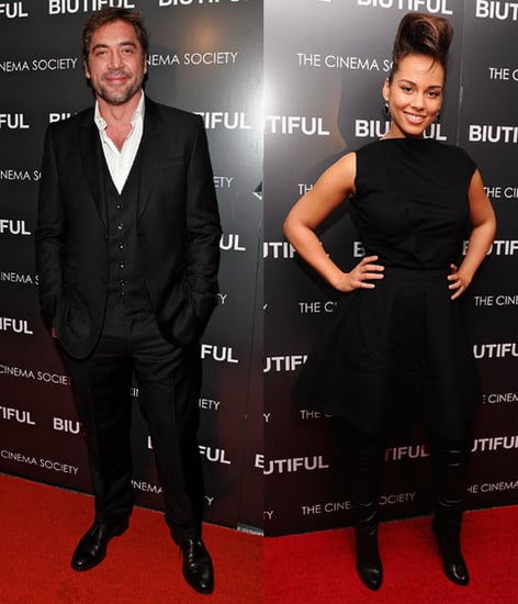 Pictures of Javier Bardem and Alicia Keys at a NYC Screening of Biutiful 2010-12-02 08:45:00