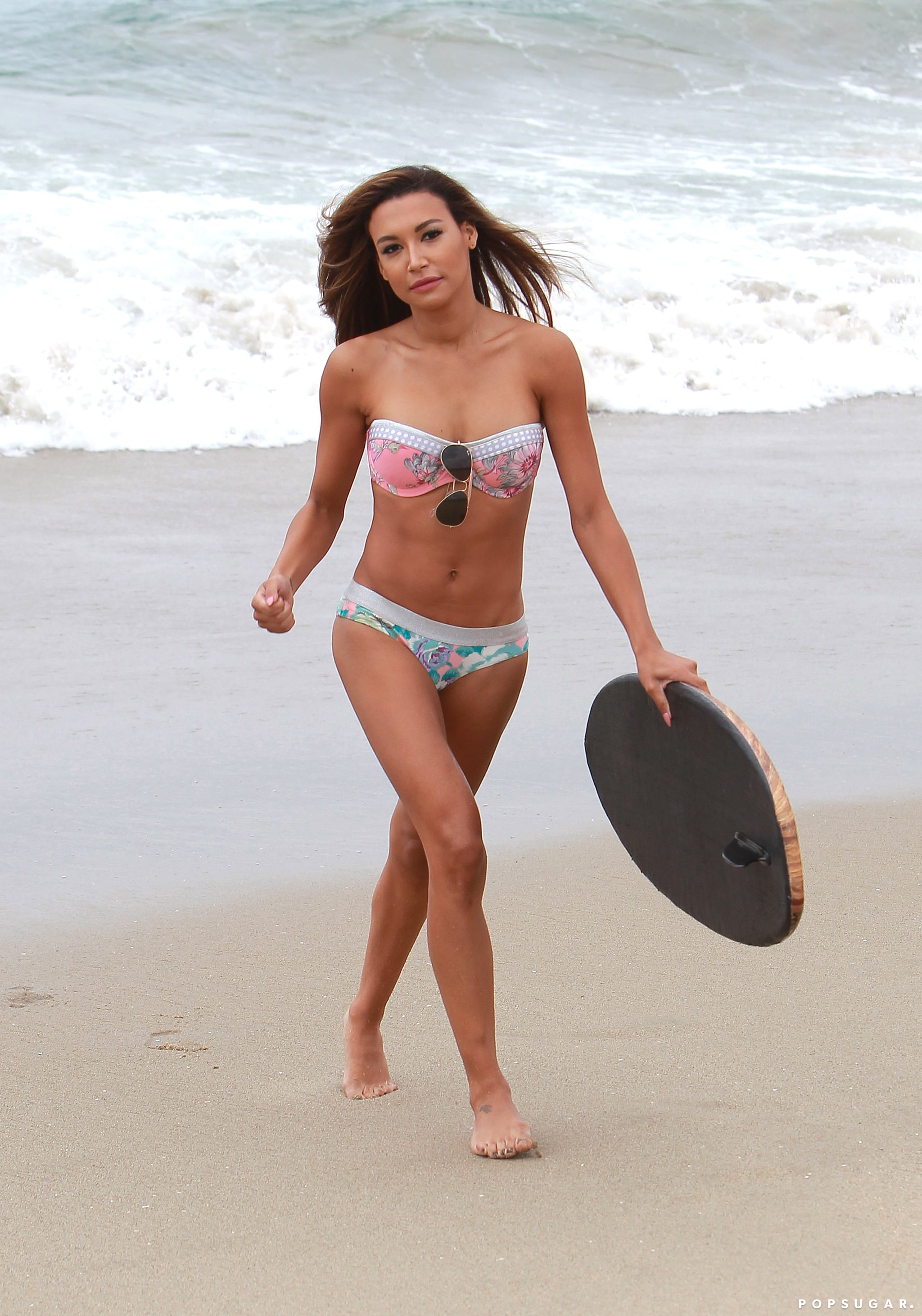 Naya Rivera, a star from the hit show Glee, was at an LA beach in her bikini in June 2013.
