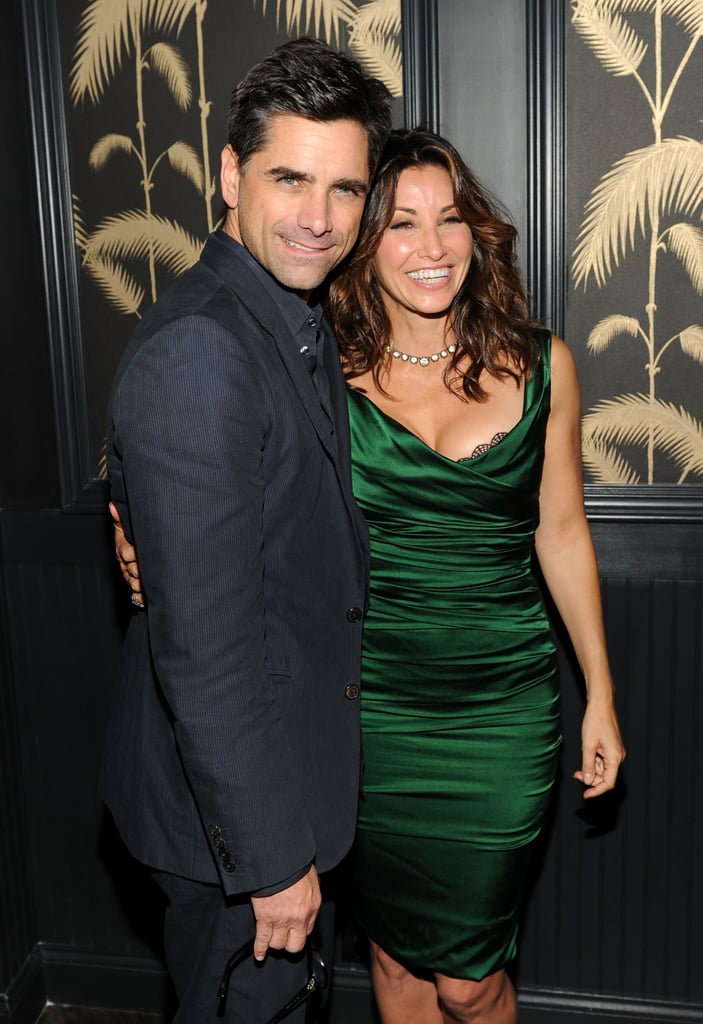 John Stamos posed with Gina Gershon in NYC.