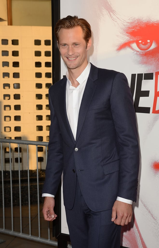 Alexander Skarsgard brightened up the scene with a smile.