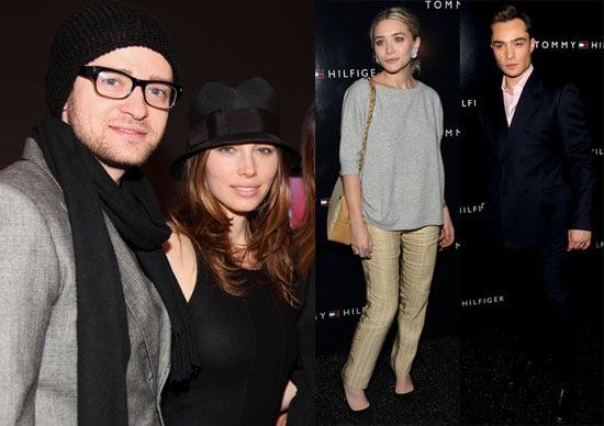 Photos of Ashley Olsen, Justin Timberlake, and Jessica Biel at the 2010 Fall New York Fashion Week Shows