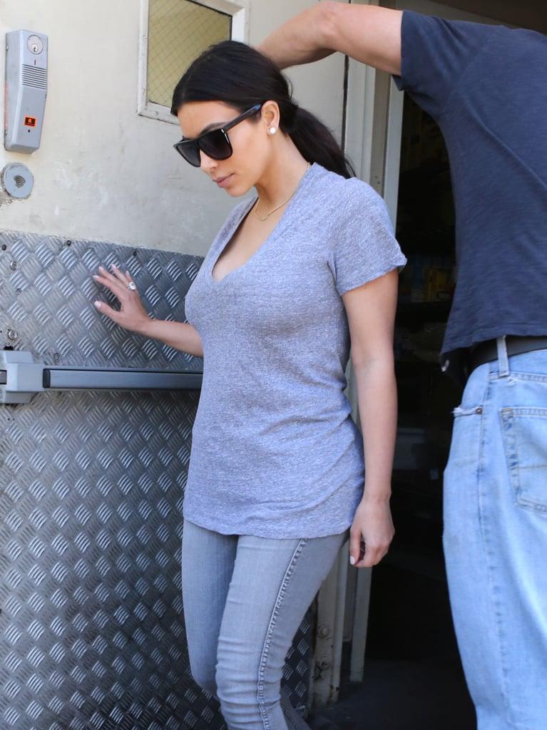 Kim Kardashian Has a Gray Day Without Kanye