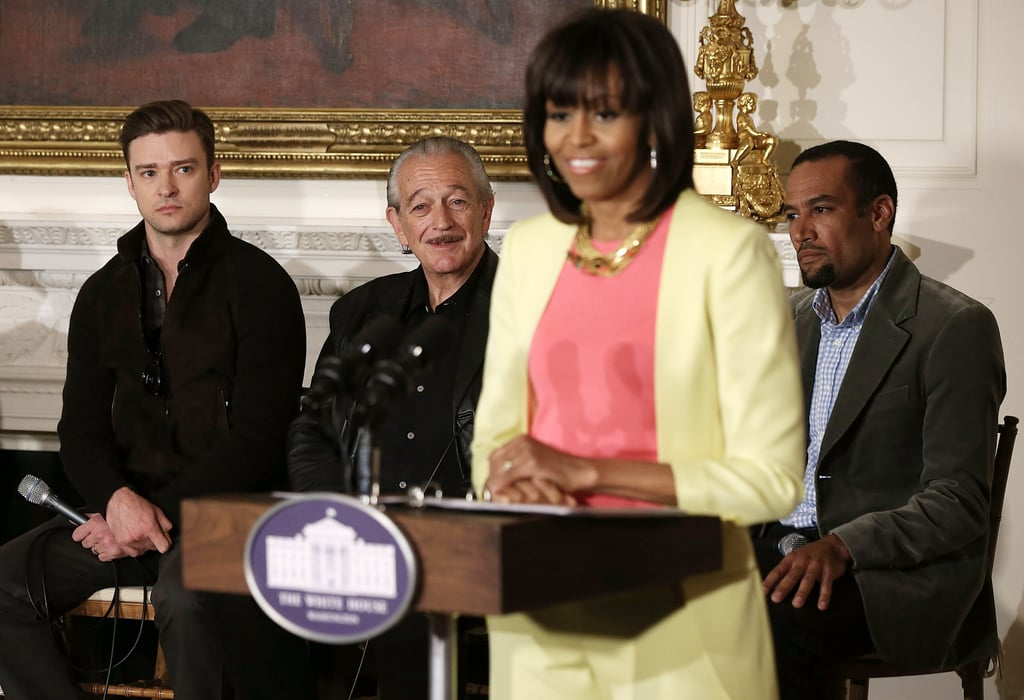 Michelle Obama spoke to students at the History of Memphis Soul workshop at the White House.