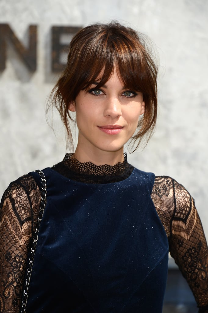 Alexa Chung was at the Chanel Couture show in July with her iconic bangs on display.