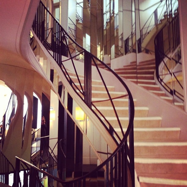 Vogue fashion director Christine Centenera posted this photo, which needed no caption — it's of Coco Chanel's famous staircase in her Parisian apartment. Lucky Christine!