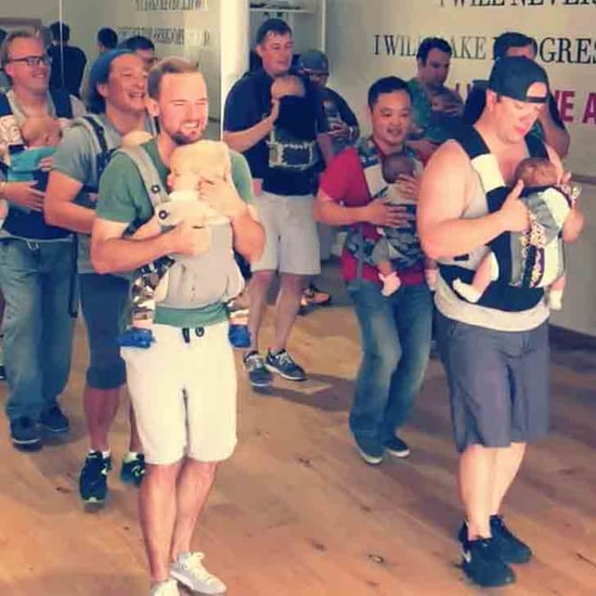 Dads Perform in a Baby-Wearing Dance Class