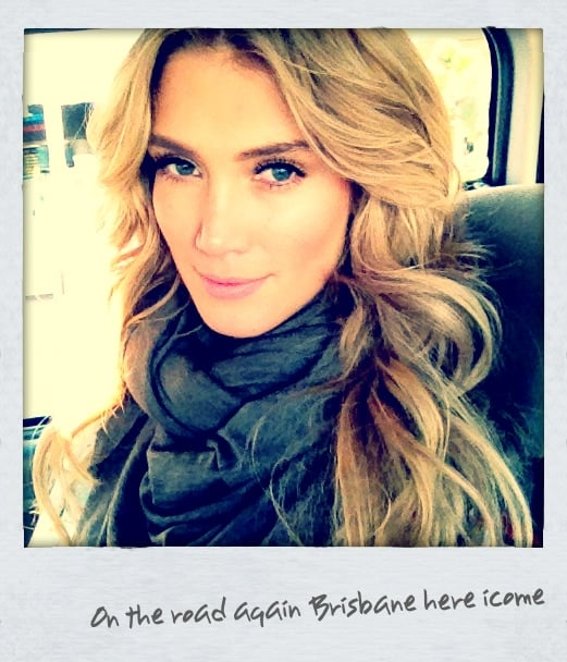 Delta Goodrem looked gorgeous on the way to Brisbane. Source: Twitter user delta_goodrem