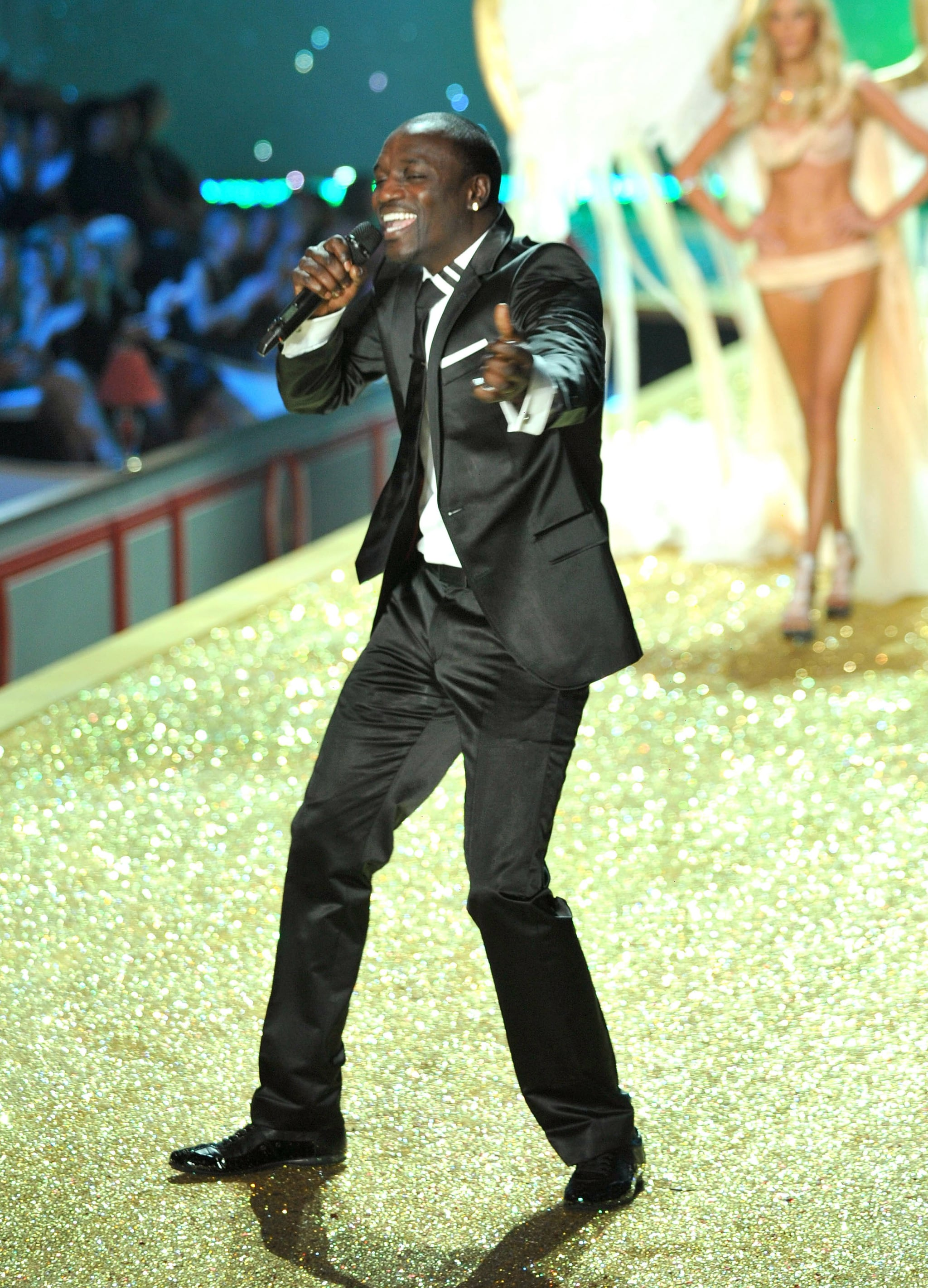 """Akon sang his hit """"Angel"""" while on stage at the 2010 show."""