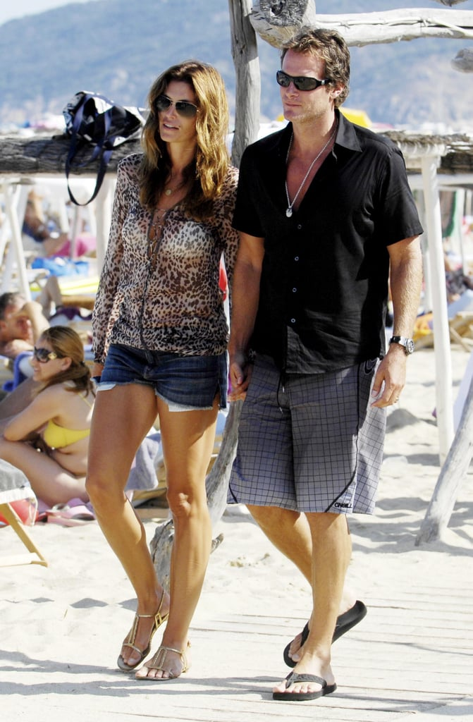 Cindy Crawford and Rande Gerber held hands while walking in St.-Tropez in August 2009.