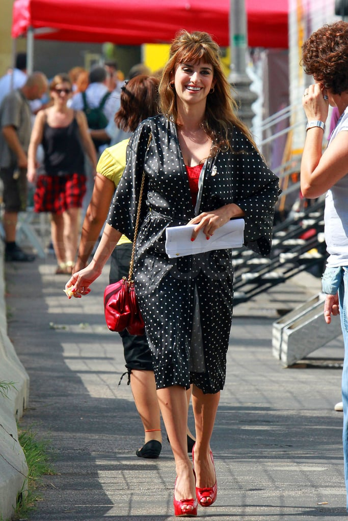 Penelope Cruz was all smiles in Italy.