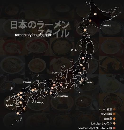 Yummy Link: Map of Japan's Ramen Styles