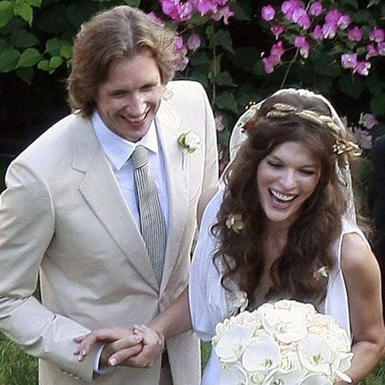 Milla Jovovich was a bohemian beauty when she married Paul W. S. Anderson in LA in August 2009.