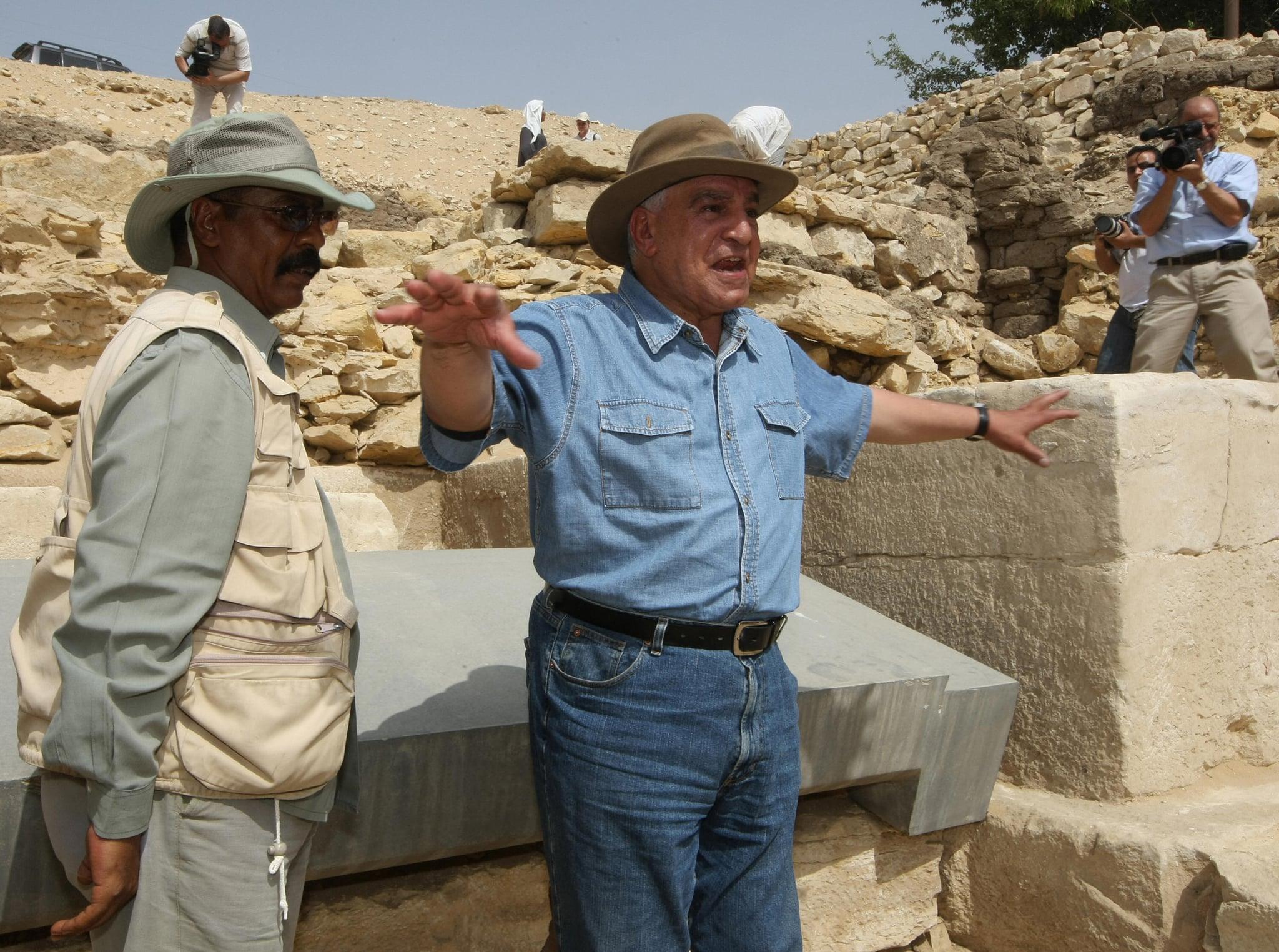 Egyptian Antiquities Council chief Zahi Hawass.