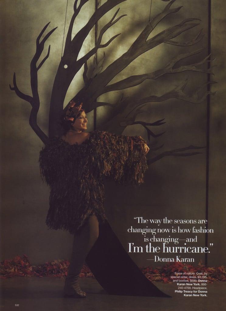 Donna Karan as a hurricane.