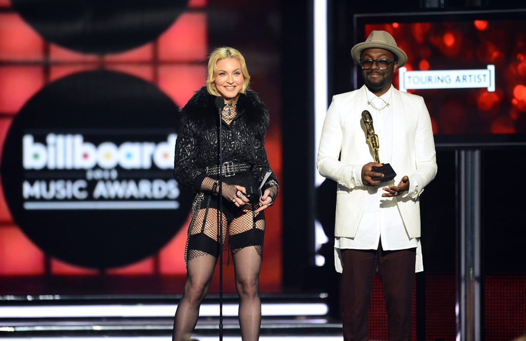Will.i.am and Madonna shared the stage.