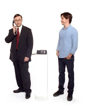 """John """"PC"""" Hodgman Whips Out His iPhone"""