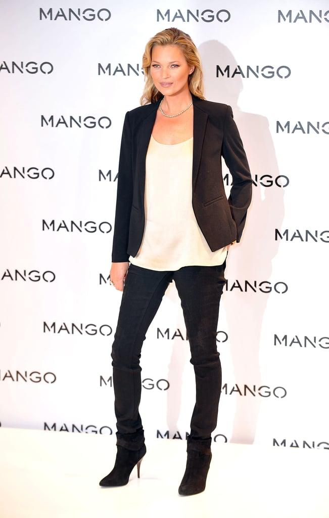 Kate Moss is the face of Spanish brand Mango.