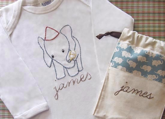 Hand-Embroidered Onesies