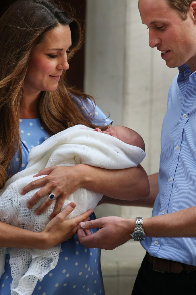The Duke and Duchess of Cambridge left St. Mary's Hospital in London with their little prince.
