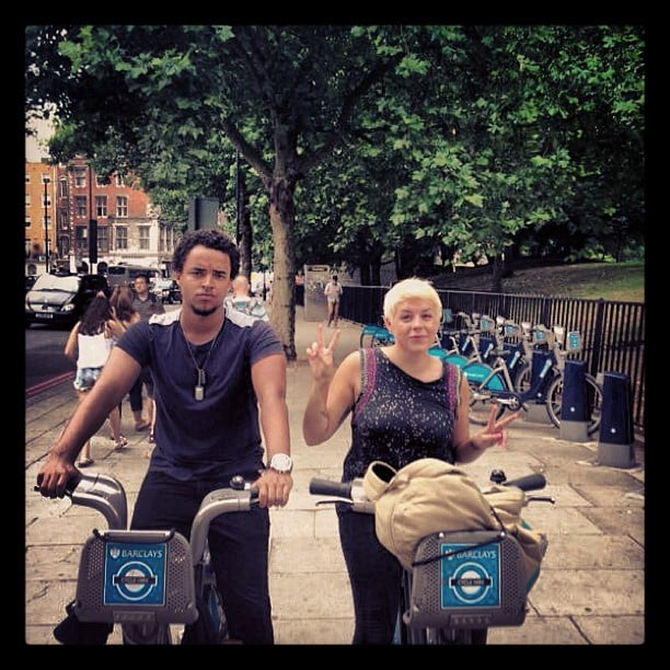 Connor Cruise and his sister, Isabella, explored London together on bikes. Source: Instagram user theconnorcruise
