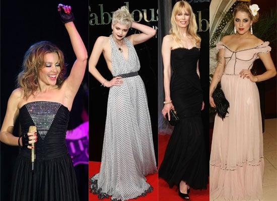 Photos Of Kylie Minogue, Peaches Geldof, Pixie Geldof, Claudia Schiffer, Dita Von Teese, James Blunt, Eva Herzigova At Cannes
