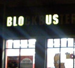 Blockbuster Sign Outage