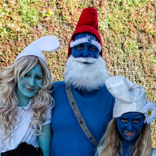 People Wearing Smurfs Costumes