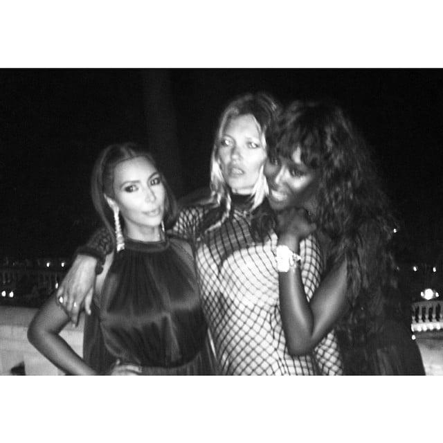 Kim got close with fellow Vogue cover models Kate and Naomi. Source: Instagram user kimkardashian