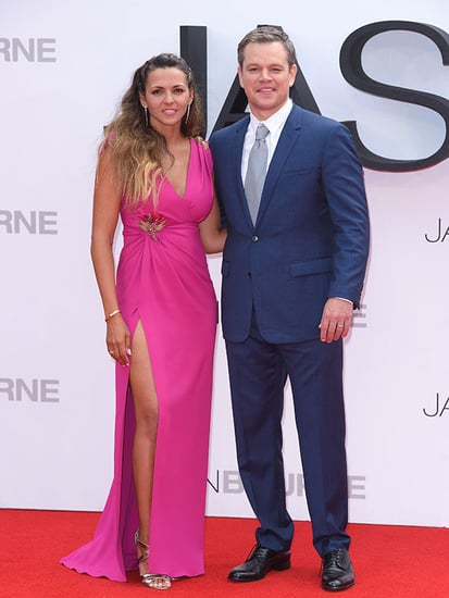 Matt Damon's Wife Luciana Barroso Stuns In High-Split Dress at Jason Bourne Premiere