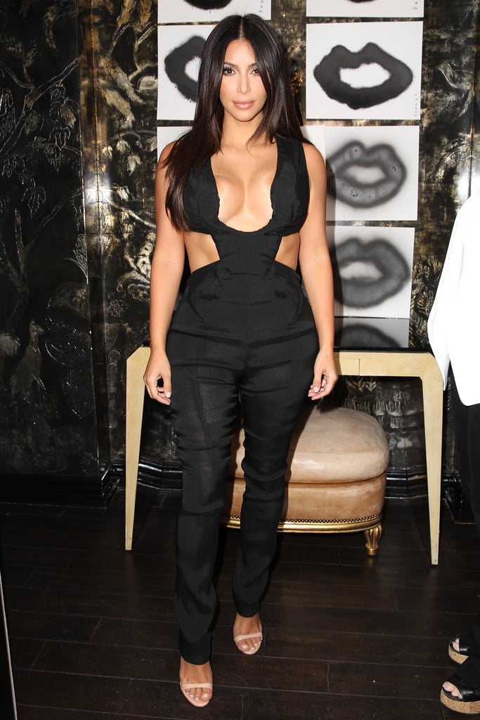 Kim Kardashian Cutout Jumpsuit