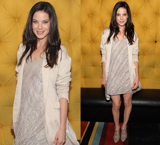 Photo of Michelle Monaghan in Metallic Dress and Calvin Kleing Blazer at the Trucker Premiere in NYC