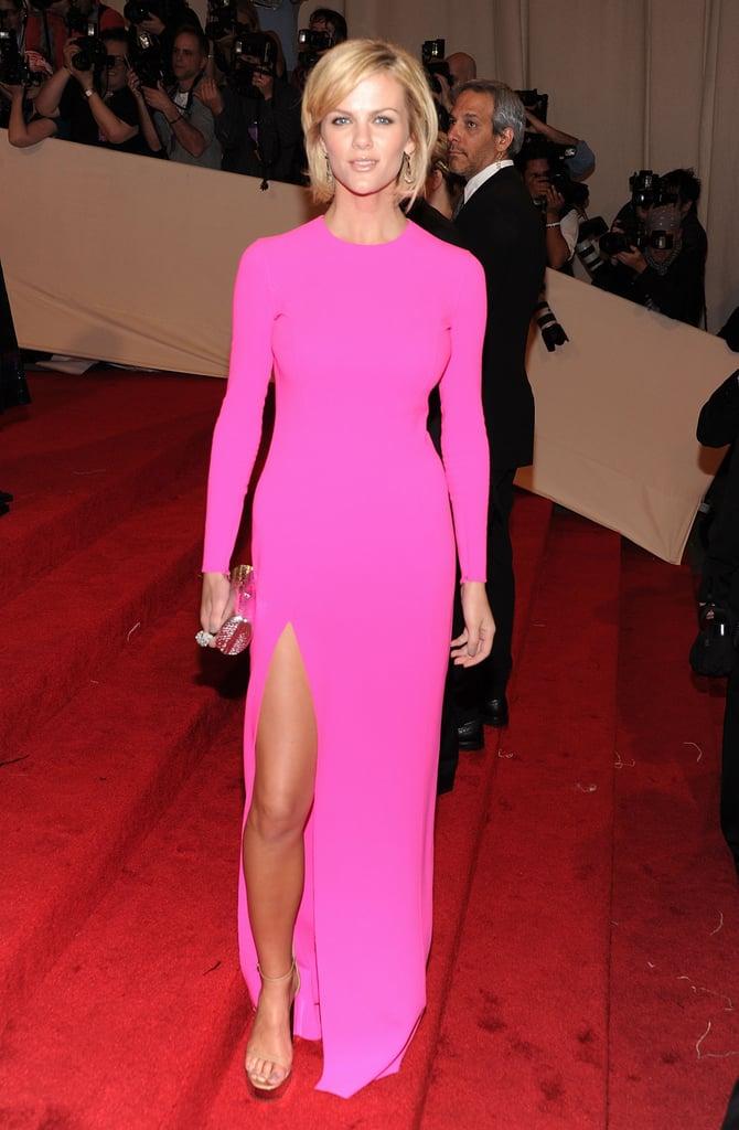 Brooklyn Decker in Hot Pink Michael Kors at 2011 Met Gala