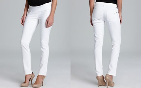 DL 1961 White Maternity Jeans