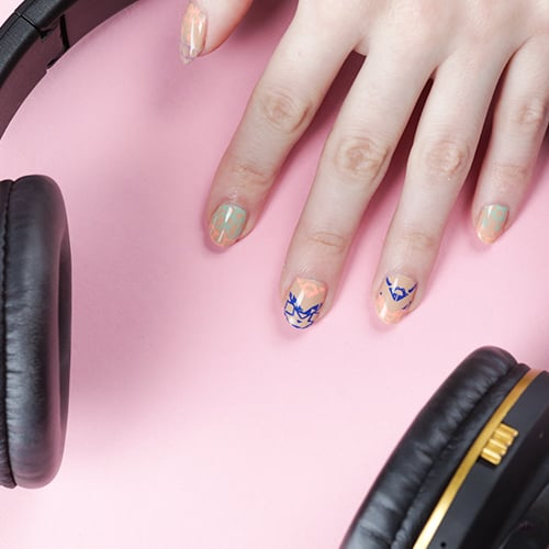 Nail Stamp Manicure Tutorial Video